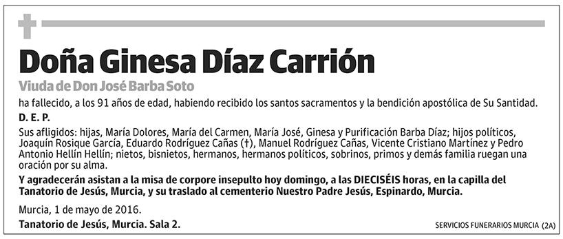 Ginesa Díaz Carrión