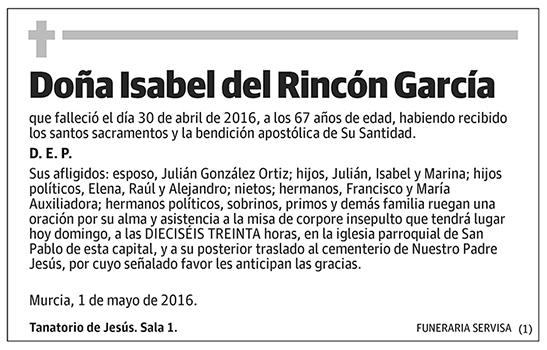 Isabel del Rincón García