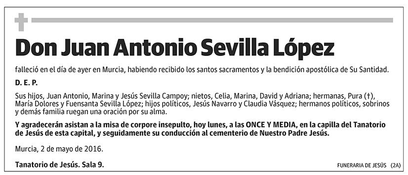Juan Antonio Sevilla López