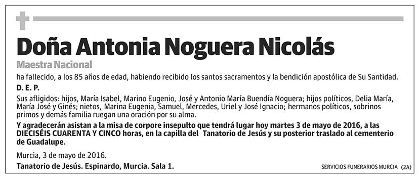 Antonia Noguera Nicolás