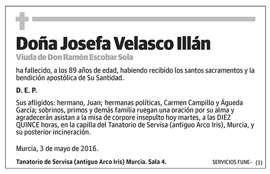 Josefa Velasco Illán