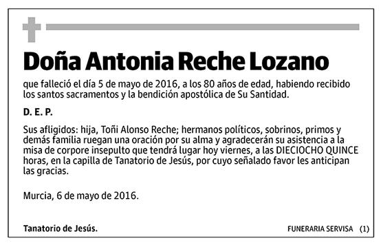Antonia Reche Lozano