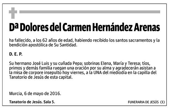 Dolores del Carmen Hernández Arenas