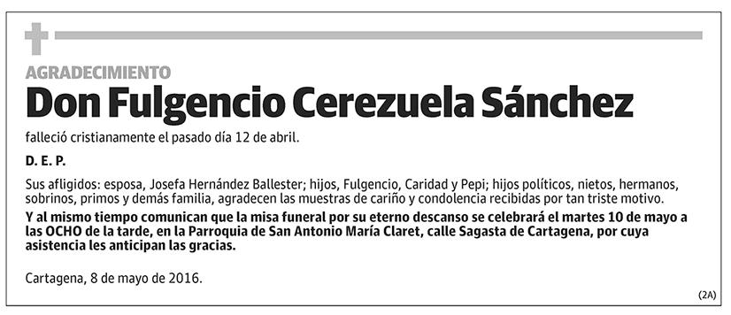 Fulgencio Cerezuela Sánchez