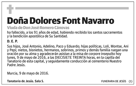Dolores Font Navarro
