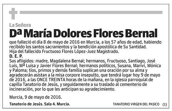 María Dolores Flores Bernal