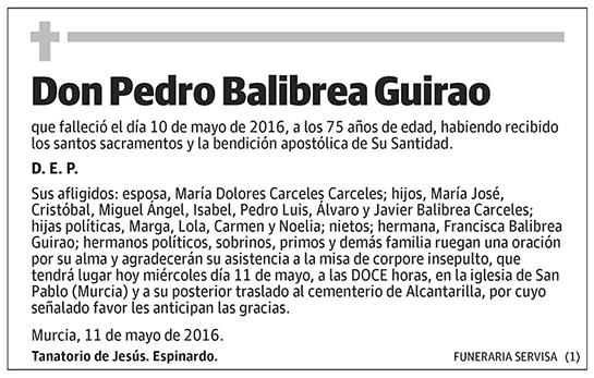 Pedro Balibrea Guirao