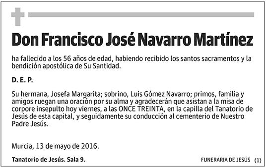 Francisco José Navarro Martínez