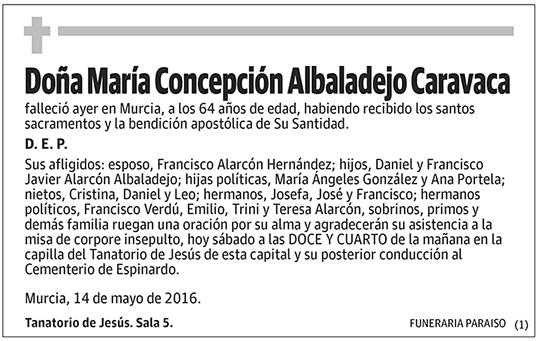 María Concepción Albaladejo Caravaca