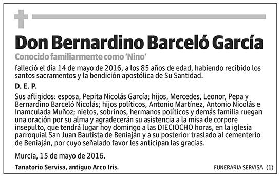 Bernardino Barceló García