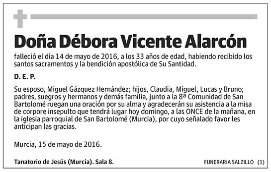 Débora Vicente Alarcón