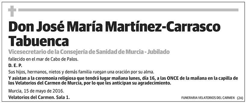 José María Martínez-Carrasco Tabuenca