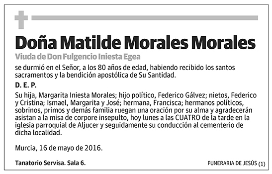 Matilde Morales Morales