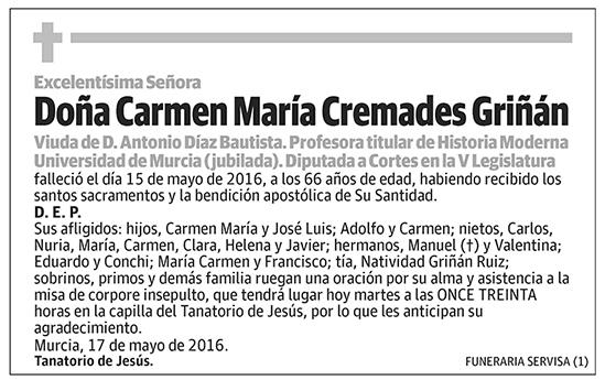 Carmen María Cremades Griñán