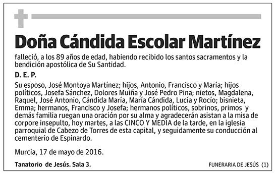 Cándida Escolar Martínez