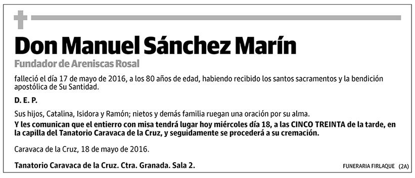 Manuel Sánchez Marín