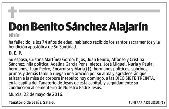 Benito Sánchez Alajarín