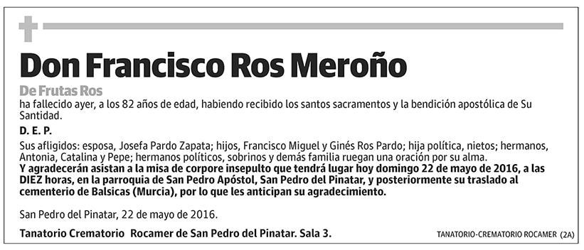 Francisco Ros Meroño