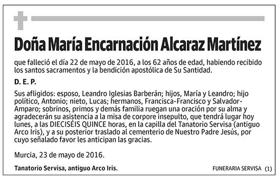 María Encarnación Alcaraz Martínez