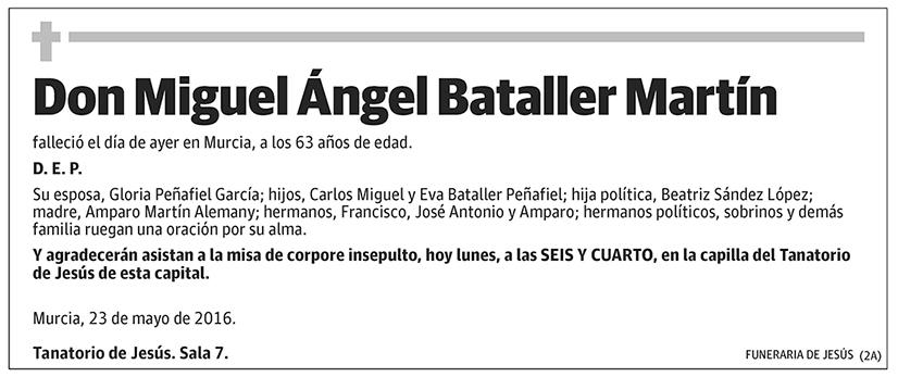Miguel Ángel Bataller Martín