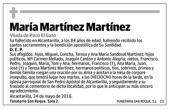 María Martínez Martínez