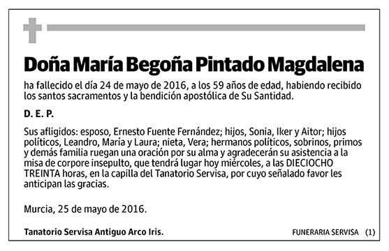 María Begoña Pintado Magdalena