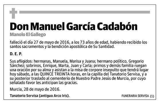 Manuel García Cadabón
