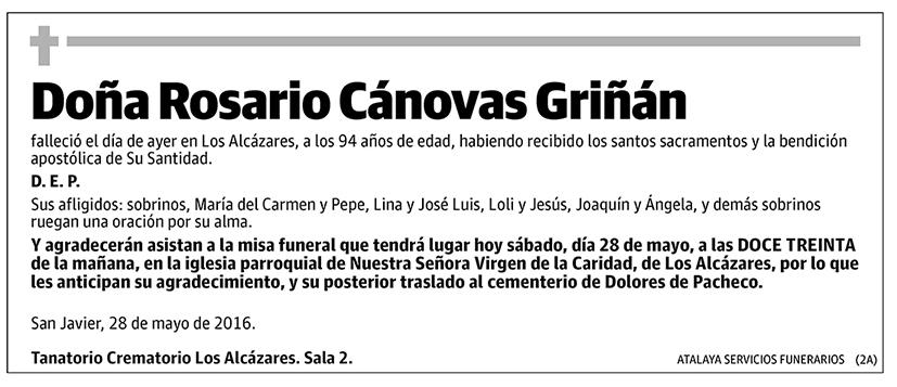 Rosario Cánovas Griñán