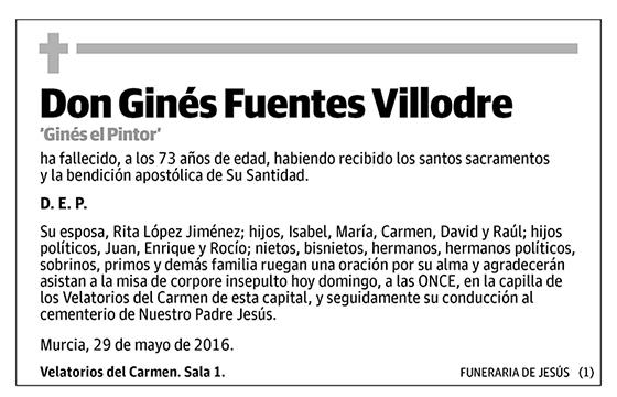 Ginés Fuentes Villodre