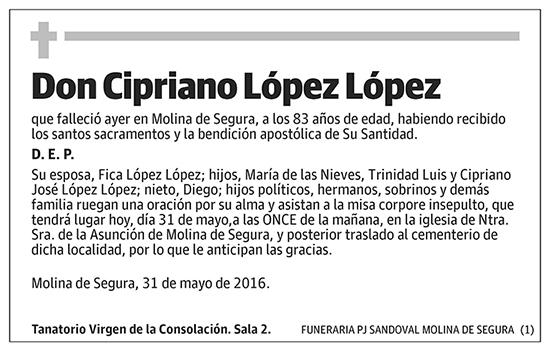 Cipriano López López