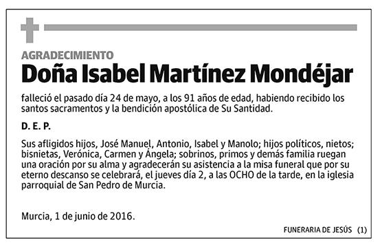 Isabel Martínez Mondéjar