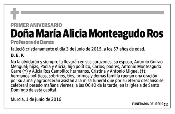 María Alicia Monteagudo Ros