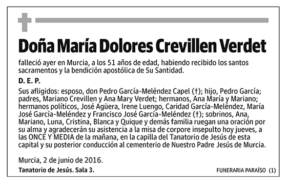 María Dolores Crevillen Verdet