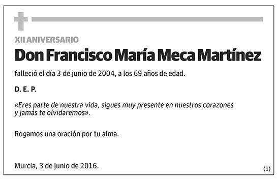 Francisco María Meca Martínez