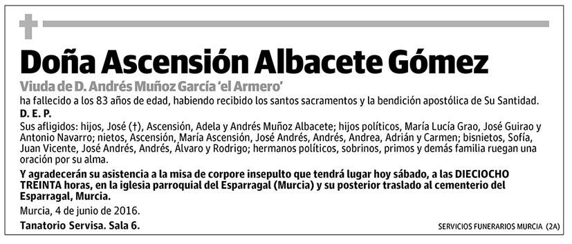 Ascensión Albacete Gómez