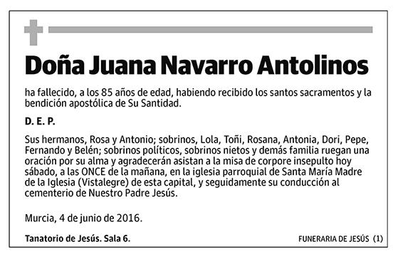 Juana Navarro Antolinos