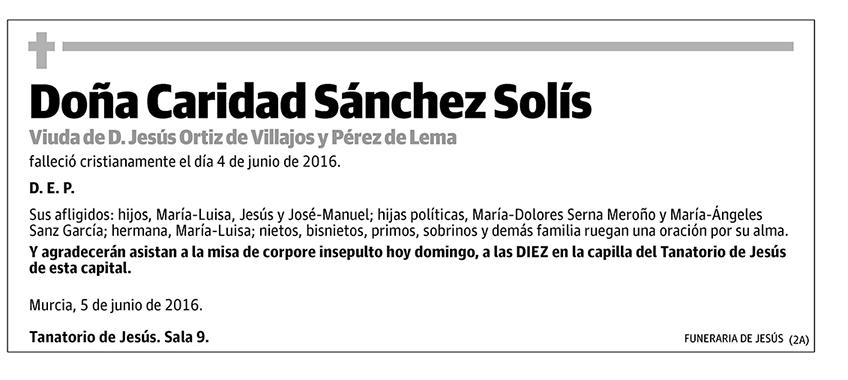 Caridad Sánchez Solís