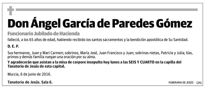 Ángel García de Paredes Gómez