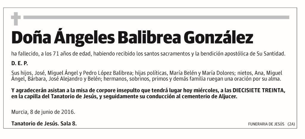 Ángeles Balibrea González
