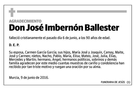 José Imbernón Ballester