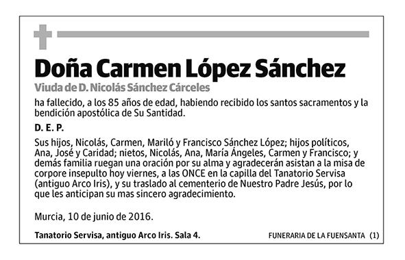 Carmen López Sánchez