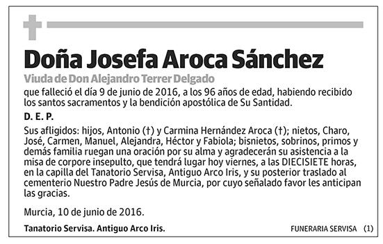 Josefa Aroca Sánchez