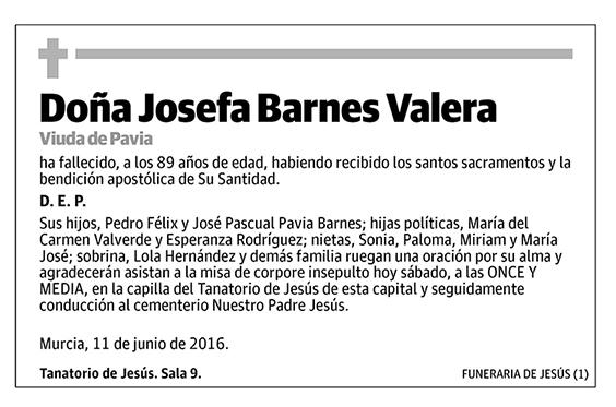 Josefa Barnes Valera