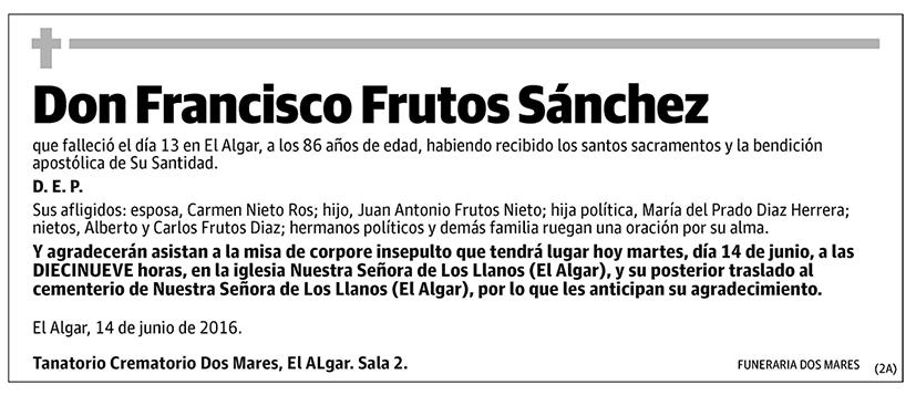 Francisco Frutos Sánchez