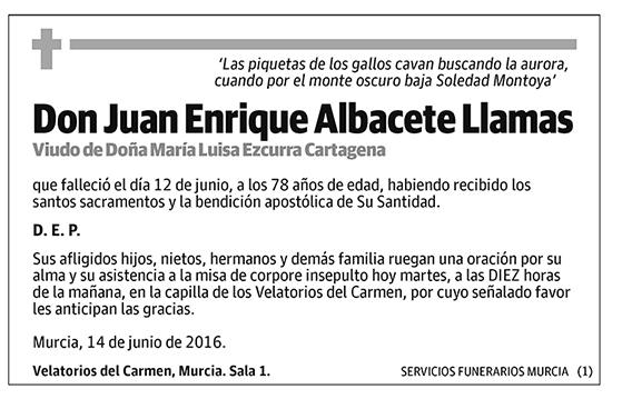 Juan Enrique Albacete Llamas
