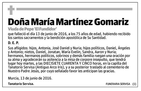 María Martínez Gomariz