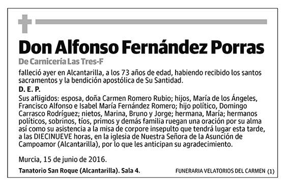 Alfonso Fernández Porras