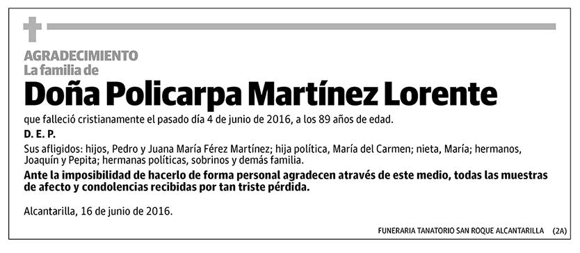 Policarpa Martínez Lorente