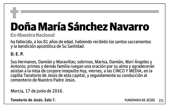 María Sánchez Navarro