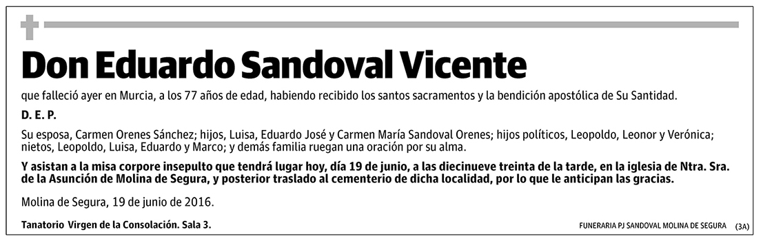 Eduardo Sandoval Vicente